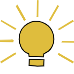 Excellent Education, light bulb icon